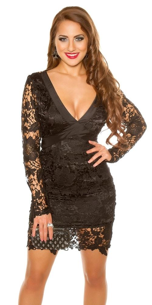 Puzdrové šaty čierne - Koucla - Puzdrové šaty - vasa-moda.sk b214ce0c0ad