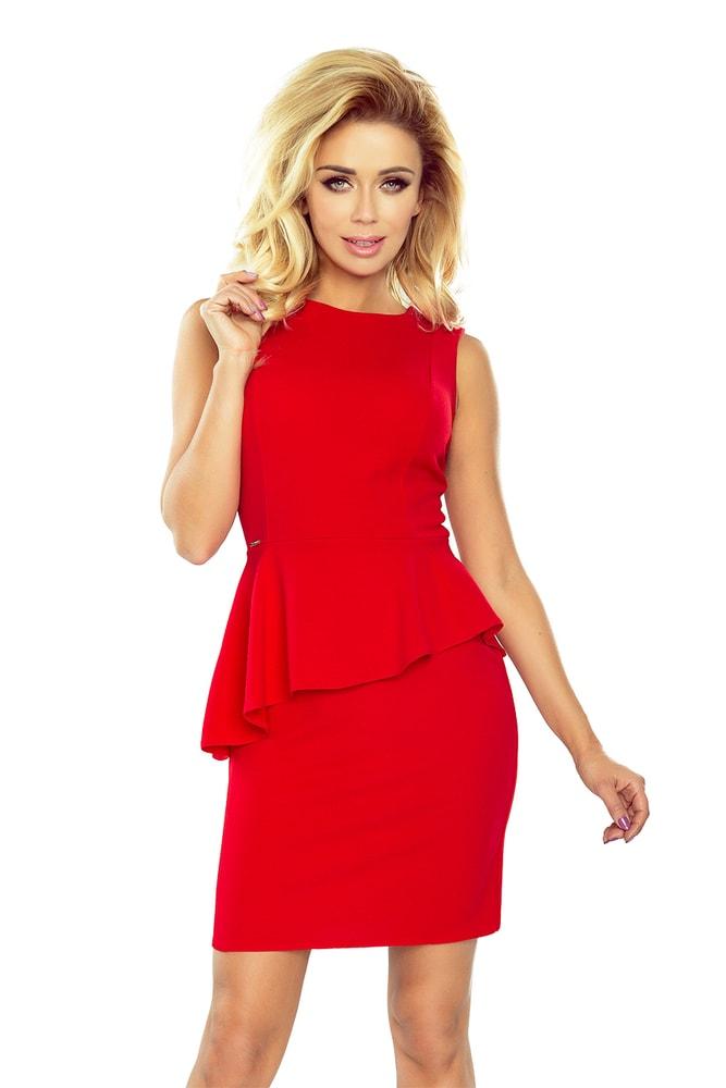 Červené dámske šaty 178-1 - XL Numoco nm-sat178re