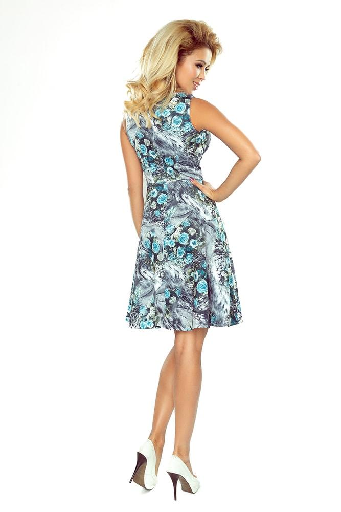Dámské květované šaty 184-1 - Numoco - Business šaty - i-moda.cz 1cb3907f71