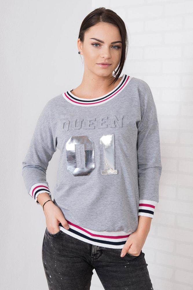Dámské šedé tričko - S/M Kesi ks-tr62138sg