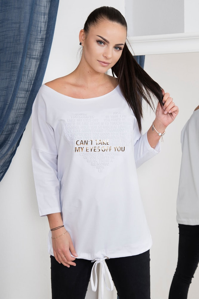 Bílé tričko s potiskem Kesi ks-tr62013wh