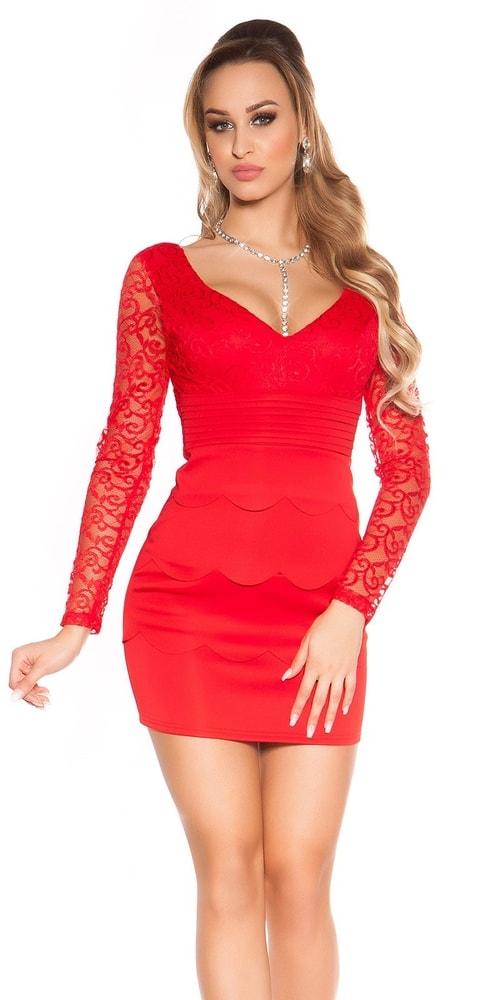 d8c132aa5d05 Dámske šaty červené - 34 Koucla in-sat1277re