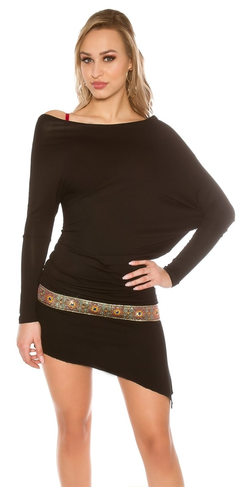Černá dámská tunika - Koucla - Tuniky - i-moda.cz 8cbadefdd9