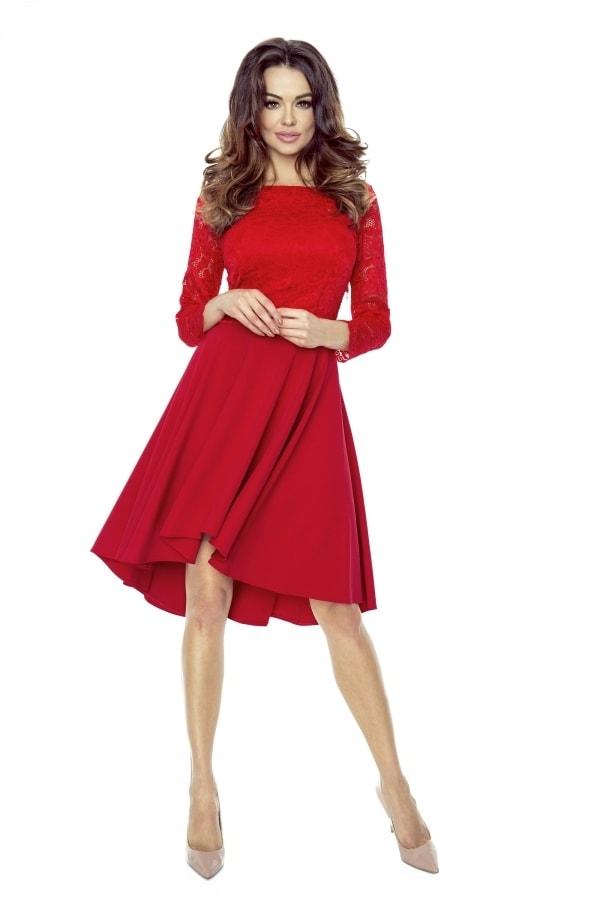 683d7147a3b Červené krajkové šaty - Bergamo - Krátké plesové šaty - i-moda.cz