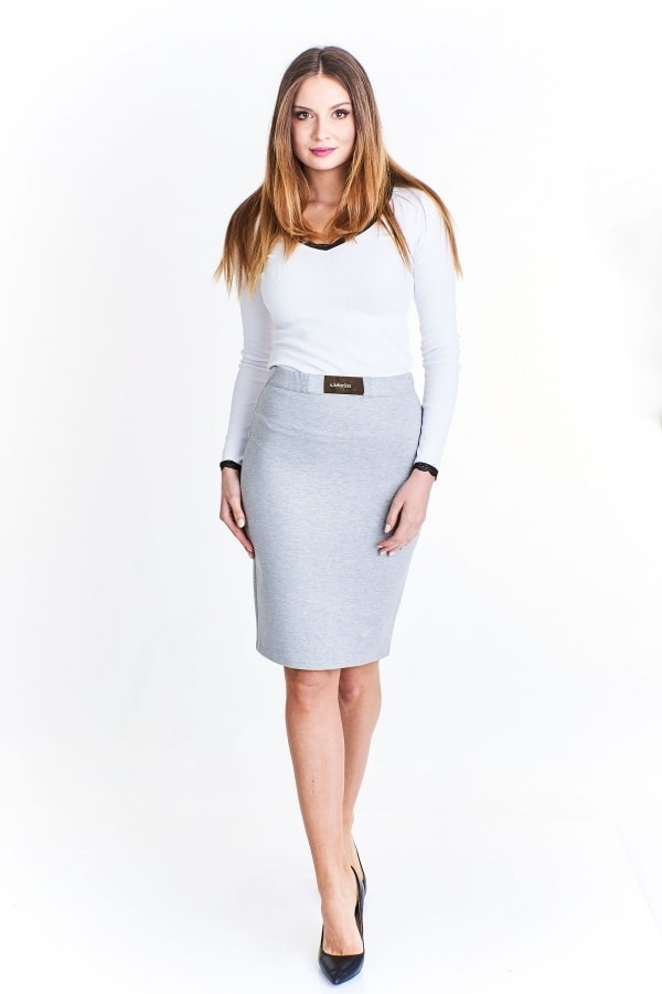 Elegantní dámská sukně Ptakmoda pt-su1002gr