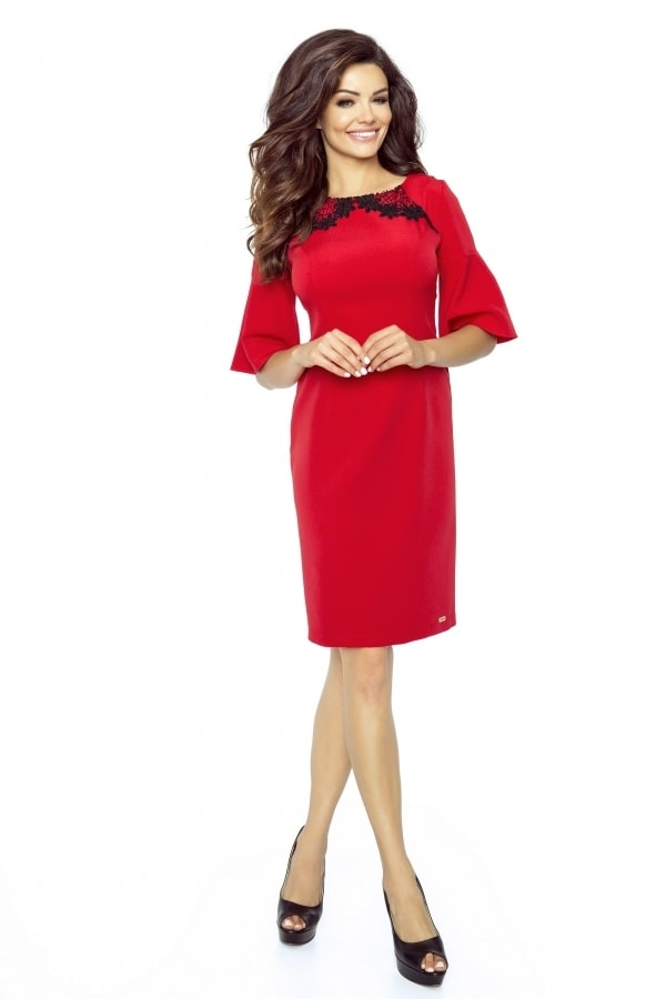 Dámske elegantné šaty - XL Bergamo pt-sat1215re