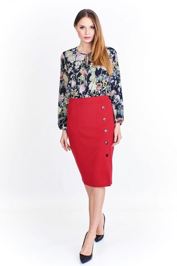 Červená dámska sukňa - Ptakmoda - Dámske sukne - vasa-moda.sk 72ab916895d