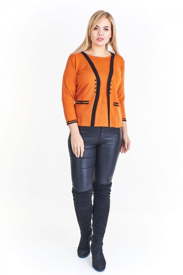 e7ae4a0a562 ... Svetry a mikiny pro plnoštíhlé ›  Elegantní svetr plus size