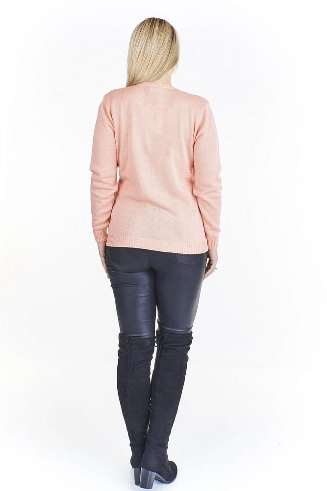 e40c340db76 Elegantní pletený svetr pro plnoštíhlé - Ptakmoda - Svetry a mikiny ...