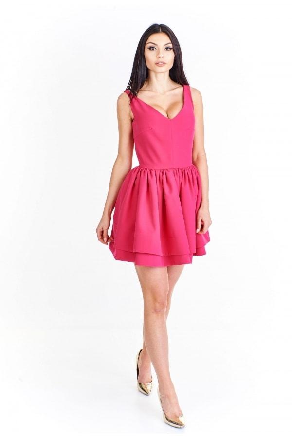 4748e6f2ae79 Dámske ružové šaty - Ptakmoda - Skater šaty - vasa-moda.sk