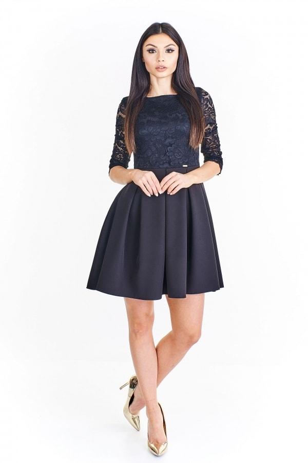 ce60360a28c9 Čierne kokteilové šaty - 42 Ptakmoda pt-sat1169bl