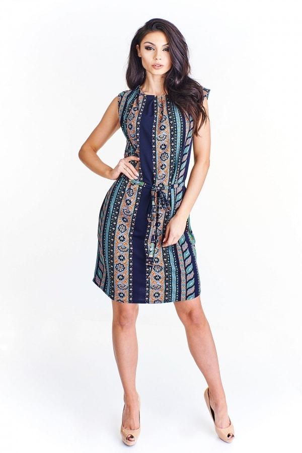 Vzorované letní šaty - Ptakmoda - Krátke letné šaty - vasa-moda.sk 3a3b7de3497