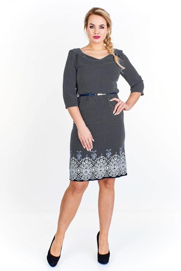 847d1f85214 Dámské šaty s páskem pro plnoštíhlé - Ptakmoda - Společenské šaty ...