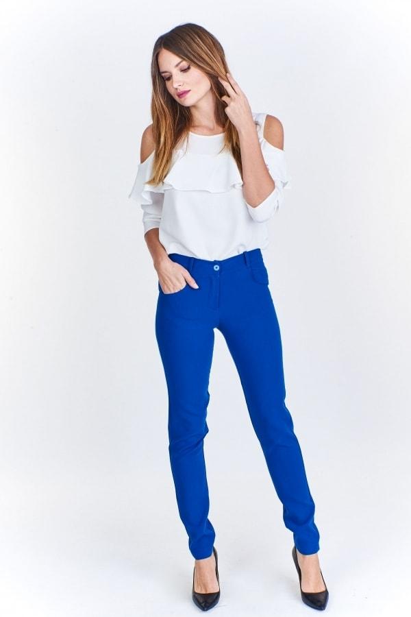 Modré dámské kalhoty - Ptakmoda - Dámske nohavice - vasa-moda.sk d40691d23de