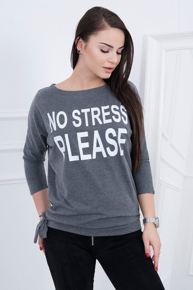 Dámské šedé tričko Kesi ks-tr8827tgr