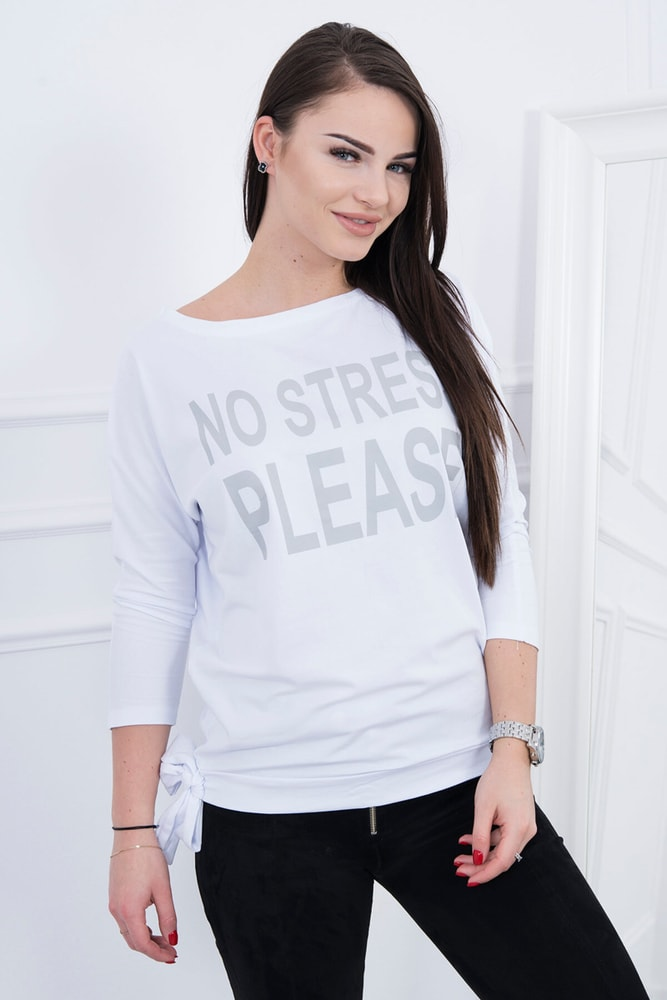 Bílé dámské tričko Kesi ks-tr8827wh