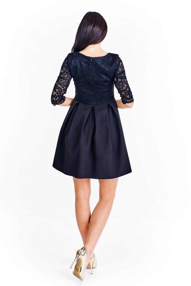 Černé koktejlové šaty - Ptakmoda - Skater šaty - i-moda.cz 647a2797a5