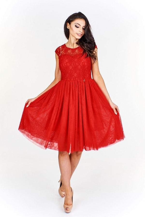 e44c823f6e9 Červené společenské šaty - Ptakmoda - Krátké plesové šaty - i-moda.cz