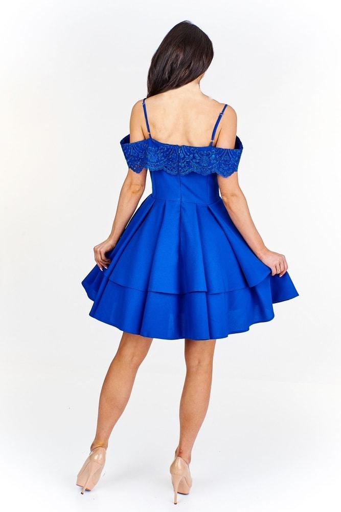 Modré společenské šaty - Ptakmoda - Krátké plesové šaty - i-moda.cz 914178091dc