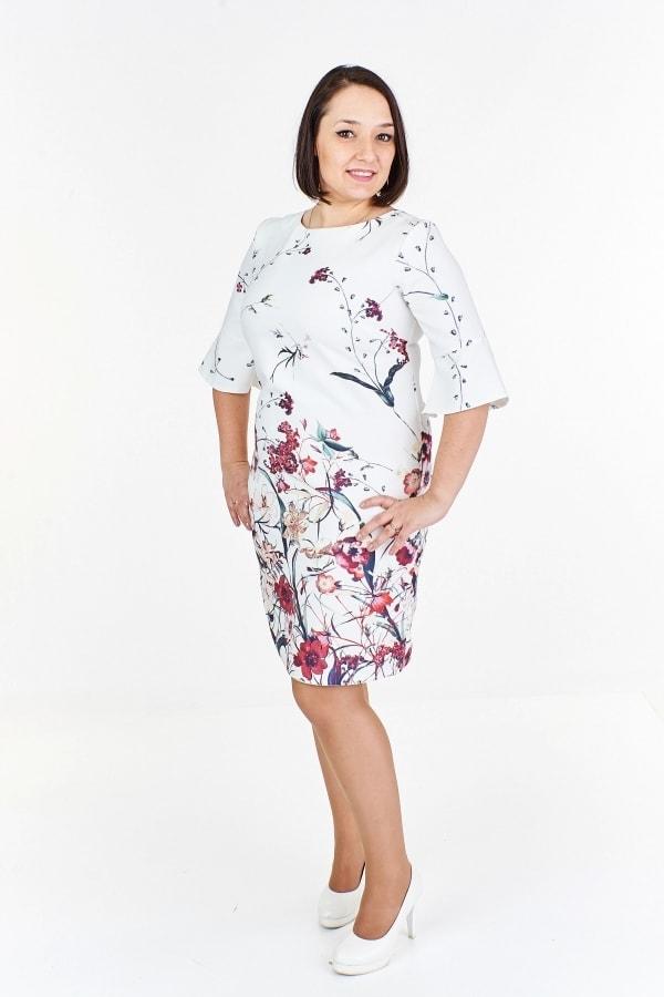 Letní šaty pro plnoštíhlé Ptakmoda pt-sat1293cr