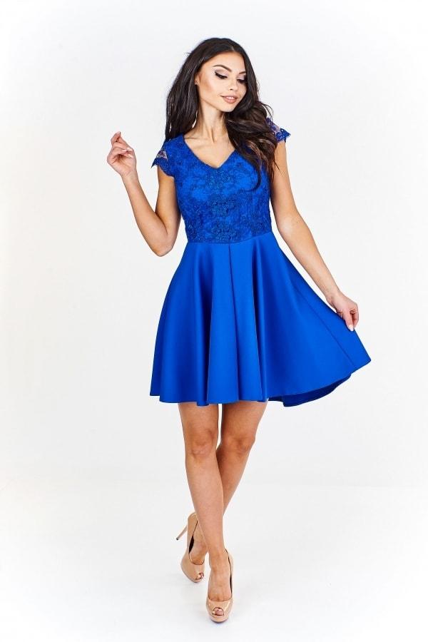Modré koktejlové šaty - Ptakmoda - Krátké plesové šaty - i-moda.cz 6fe4f077967
