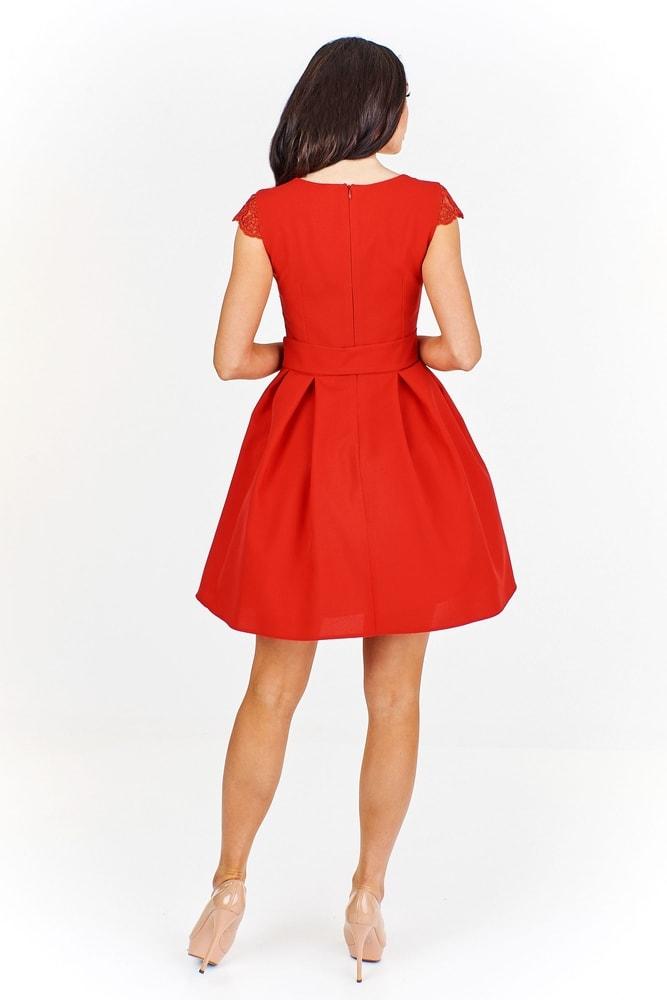 Elegantné červené šaty - Ptakmoda - Skater šaty - vasa-moda.sk b808cccdb5b