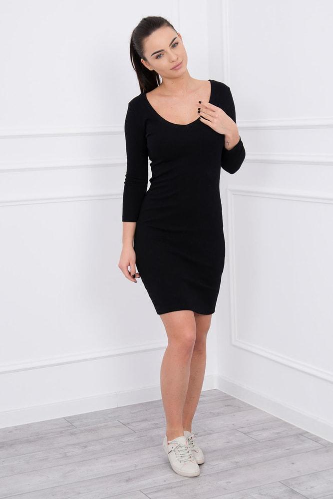 Čierne elastické šaty - Kesi - Šaty pre voľný čas - vasa-moda.sk 21b9c38de73