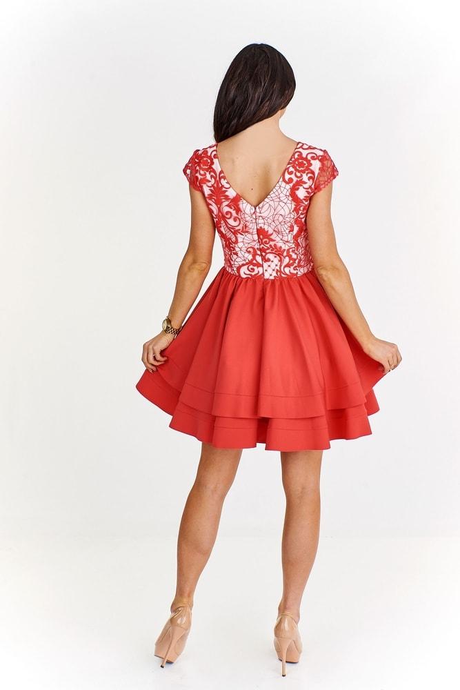 Červené koktejlové šaty - Ptakmoda - Plesové šaty - i-moda.cz 3eb65779c0