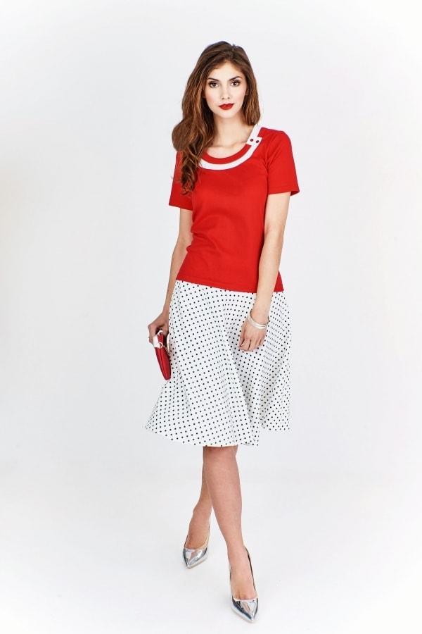 Dámské červené tričko Ptakmoda pt-tr1027re