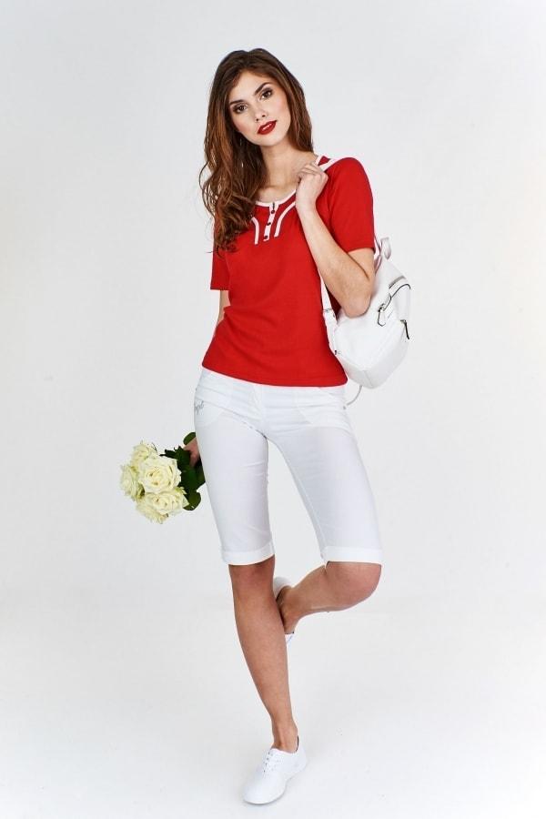 Červené dámské tričko - XXL Ptakmoda pt-tr1024re