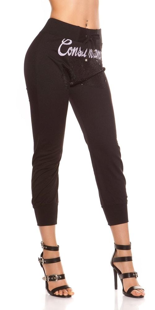 Čierne jogging nohavice - M Koucla in-te1103bl
