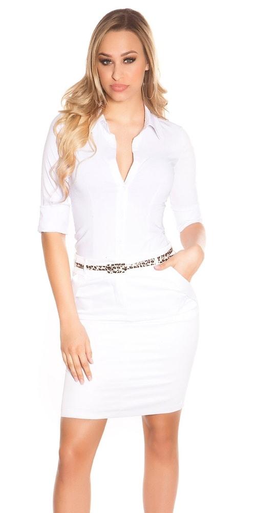 Dámská elegantní sukně Koucla in-su1176wh