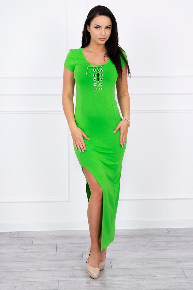 Dámské zelené šaty - Kesi - Dlouhé letní šaty - i-moda.cz 65acbd4213c