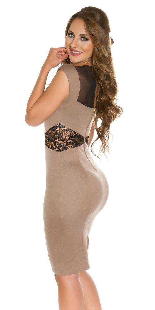 Koktejlové šaty - hnědé - Koucla - Večerní šaty a koktejlové šaty ... fd0c797d956
