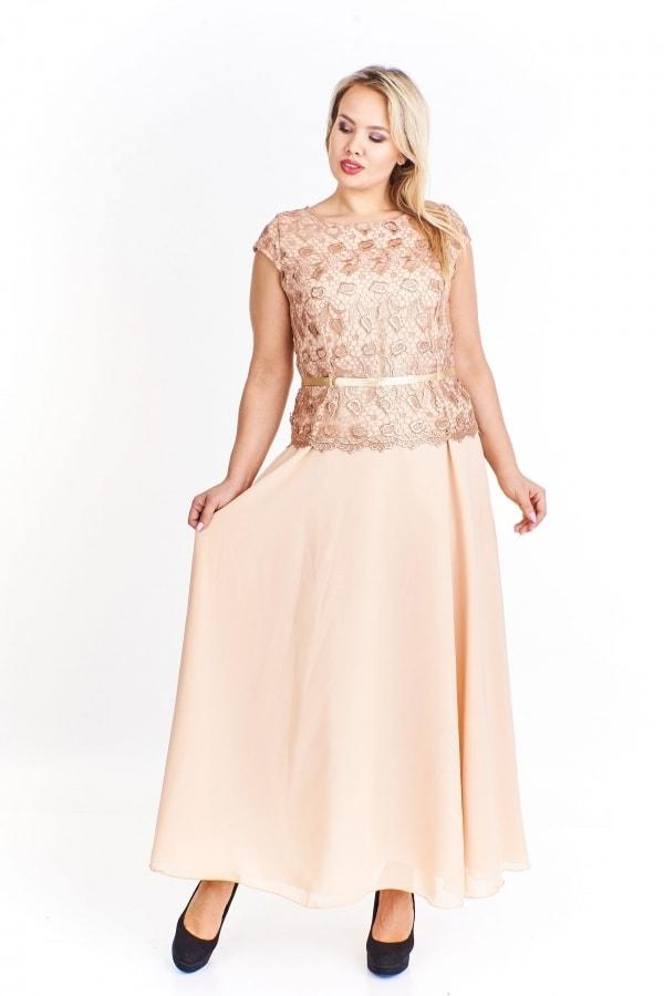 Béžové společenské šaty - Ptakmoda - Spoločenské šaty pre ... 981dea25c44