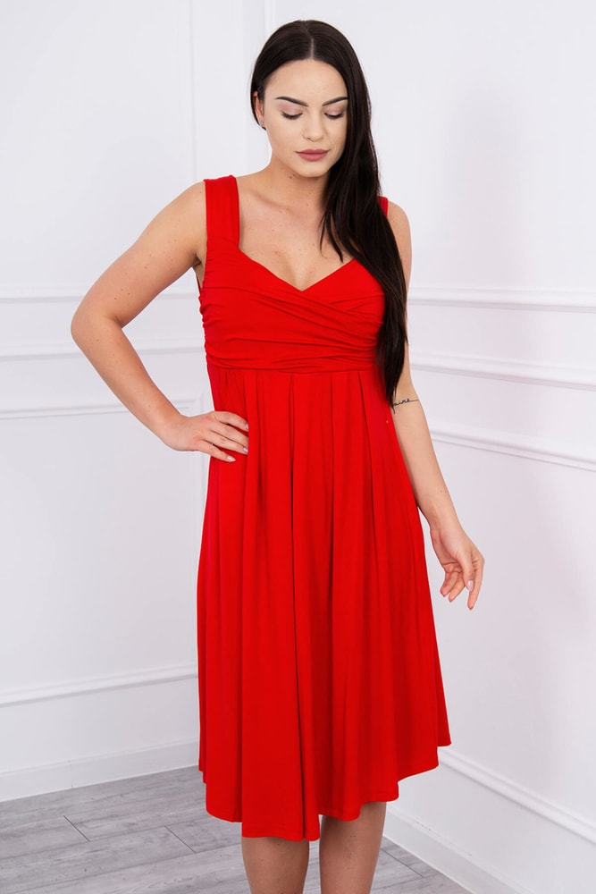 Červené letní šaty - XXL Kesi ks-sa61063re