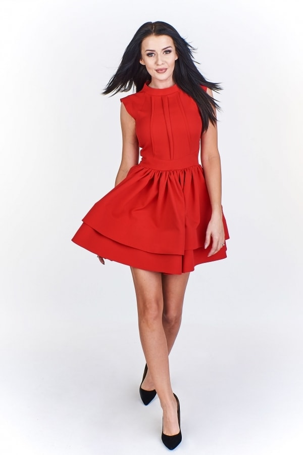Červené dámské šaty Ptakmoda pt-sat1591re
