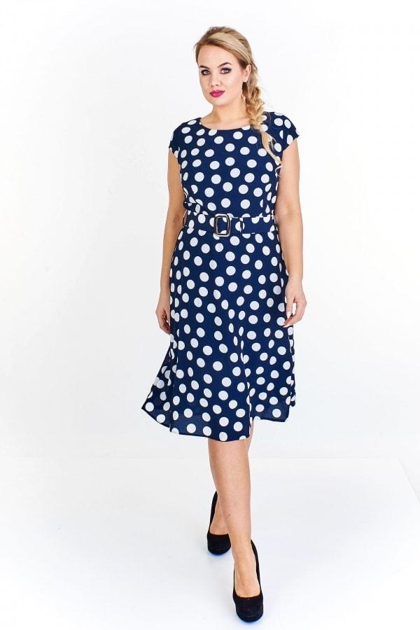 Dámské šaty s puntíky - Ptakmoda - Letní šaty pro plnoštíhlé - i-moda.cz 53e03517ba