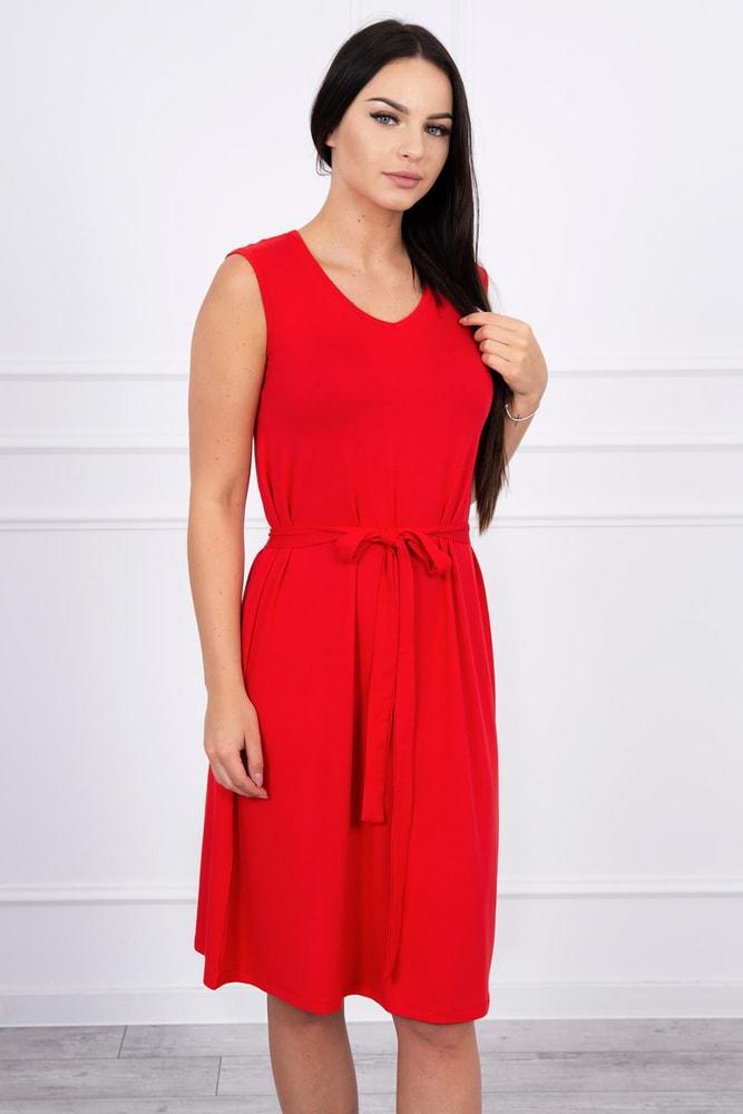 Letné červené šaty - XXL Kesi ks-sa8899re