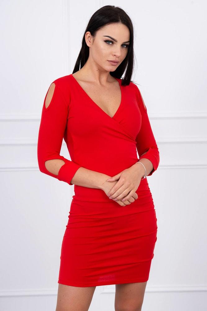 Dámské červené minišaty - XXL Kesi ks-sa8900re