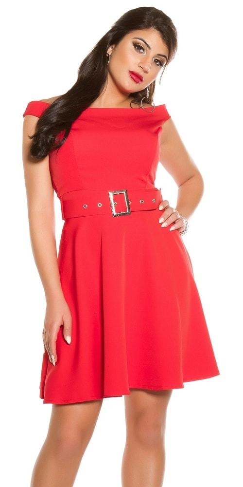 Červené dámské šaty - XL Koucla in-sat1842re