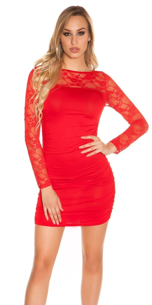 Dámske mini šaty s čipkou - Koucla - Puzdrové šaty - vasa-moda.sk f17ab09db2d