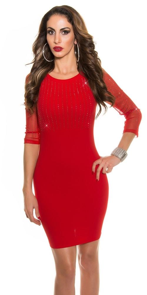 Pouzdrové červené šaty - II. jakost Koucla in-sat1045re-v