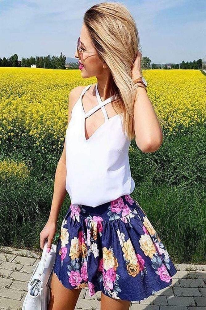 Dámská letní sukně Ptakmoda pt-su1059tm