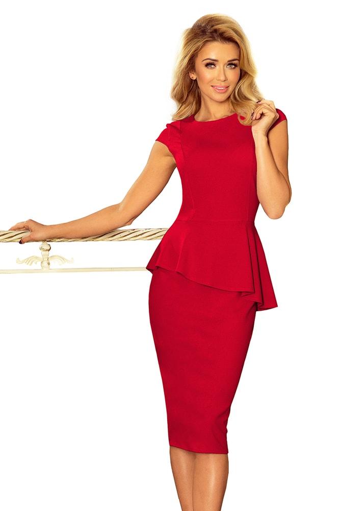 Červené elegantní šaty - XXL Numoco nm-sat192-5
