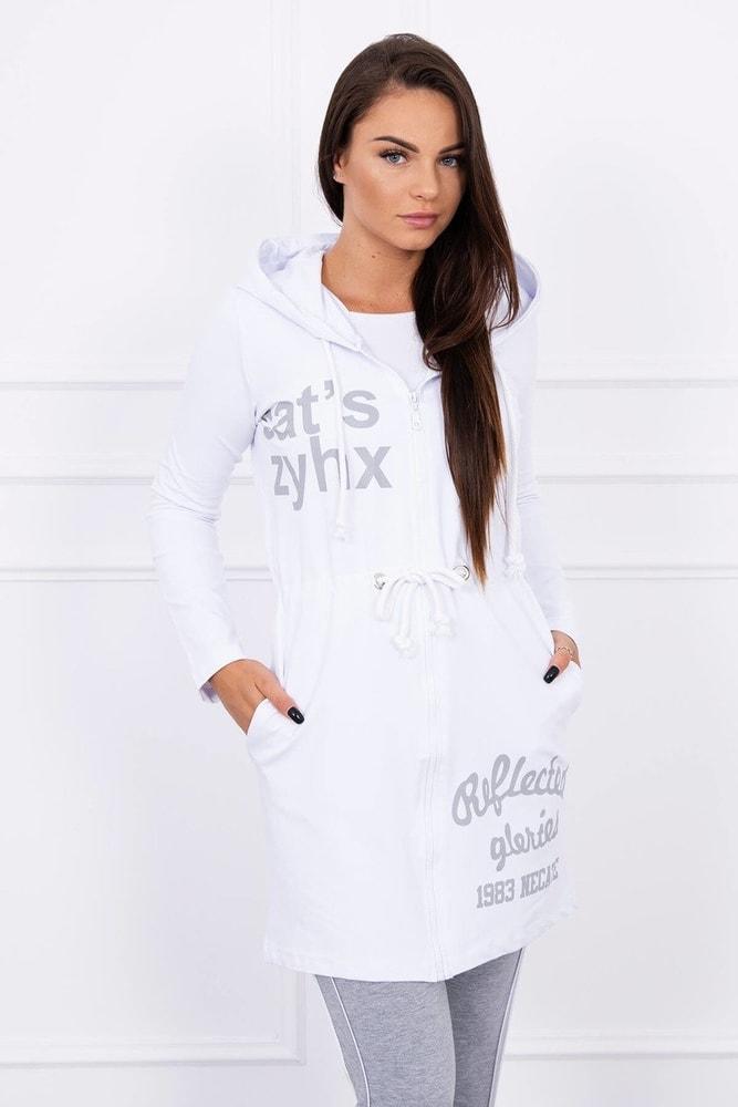 Dámská bílá mikina Kesi ks-mi8956wh