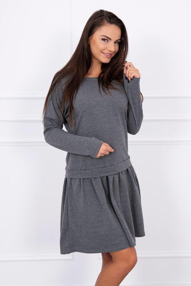Dámské šedé šaty - Uni Kesi ks-sa8942tg 1823435d8a7