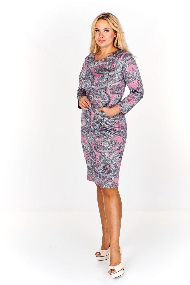 Dámske vzorované šaty - Ptakmoda - Denné šaty pre plnoštíhle - vasa ... 7c04fddd6aa