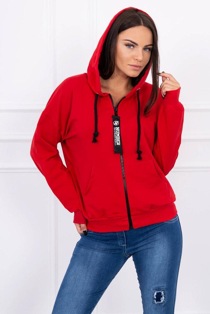 Červená mikina s kapucňou - Kesi - Dámske mikiny krátke - vasa ... 5f3eef998bf