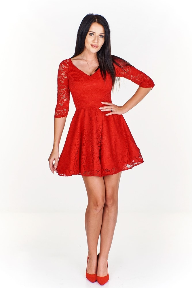 Spoločenské červené šaty - Ptakmoda - Večerné šaty a koktejlové šaty ... 06aa91f68b5